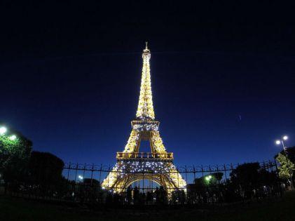 Paris France - Eiffel Tower sparkling at night