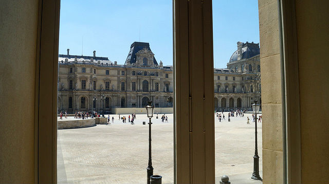 Paris France - From inside the Louvre