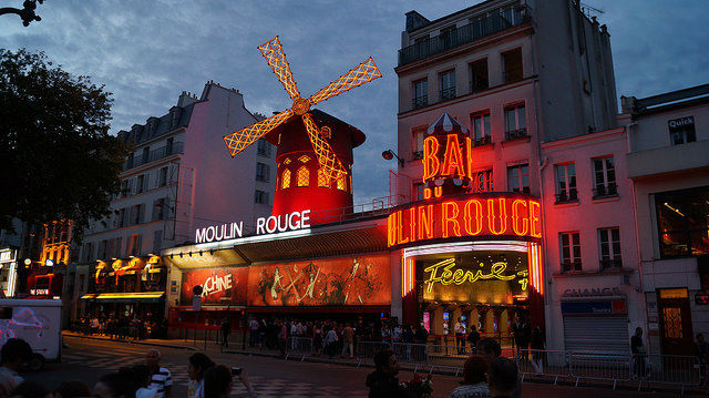 Paris France - Moulin Rouge in Pigalle