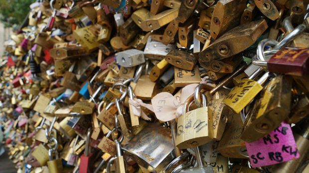 Paris France - Pont des Arts locks