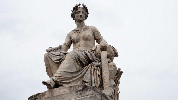 Paris France - Statue near the Louvre