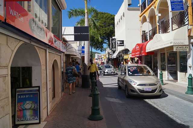 Airplanes and Beaches in St. Maarten - Downtown Philipsburg