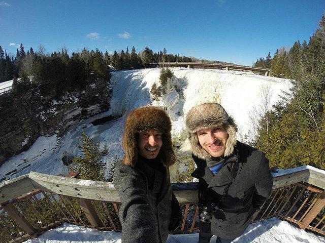 My Mini Minnesota Trip - Roman and Shawn at Kakabeka Falls