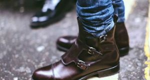 Stylish Mens Boots for Traveling - 2015 - Hand-Antiqued 3-Buckle Chelsea Boot