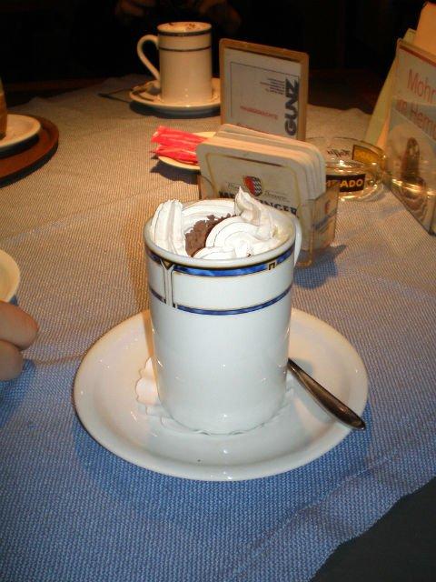 A Daytrip to Bregenz Austria - Hot Chocolate at an Austrian restaurant in Bregenz