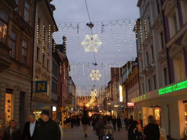 A Daytrip to Bregenz Austria - Main shopping street during Christmas in Bregenz