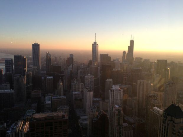 Weekend in Chicago - Sunset at Hancock Signature Lounge