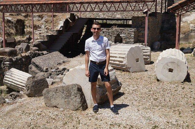 A Day in Bodrum Turkey - At the Mausoleum at Halicarnassus