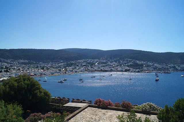 A Day in Bodrum Turkey - View of Bodrum from the castle