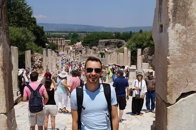 My Day at Ephesus and Kusadasi Turkey - Walking the main street of Ephesus