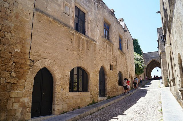 Island of Rhodes Greece - Knights Street in Old City of Rhodes
