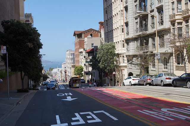 My First Time in San Francisco - Looking down Powell Street