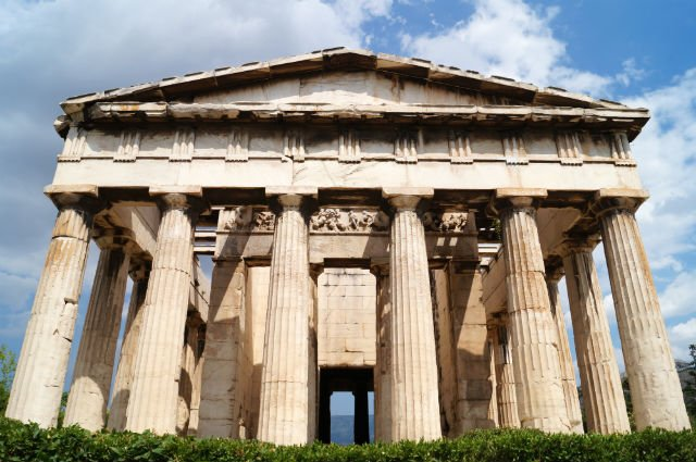 Sunday in Athens Greece - Temple of Hephaestus