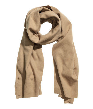 Manly Scarves for Travel - Beige Wool Scarf HM