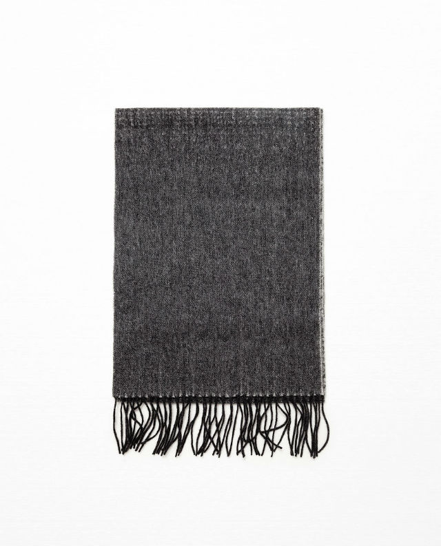 Manly Scarves for Travel - Grey Wool Scarf Zara