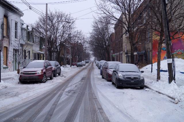 Montréal Québec - A street in Mile End