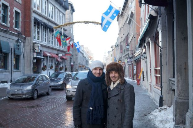 Montréal Québec - Roman and I in downtown Montreal
