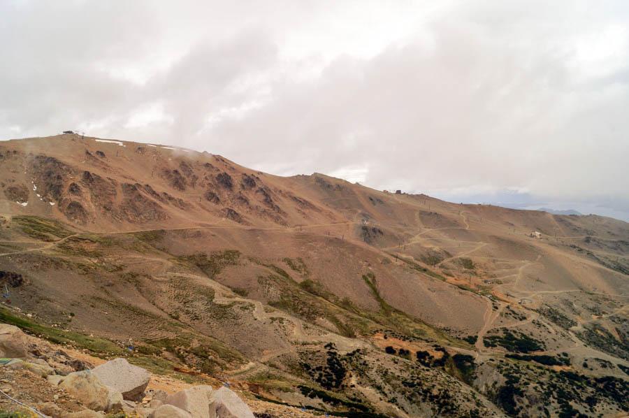 Barren landscape at the top