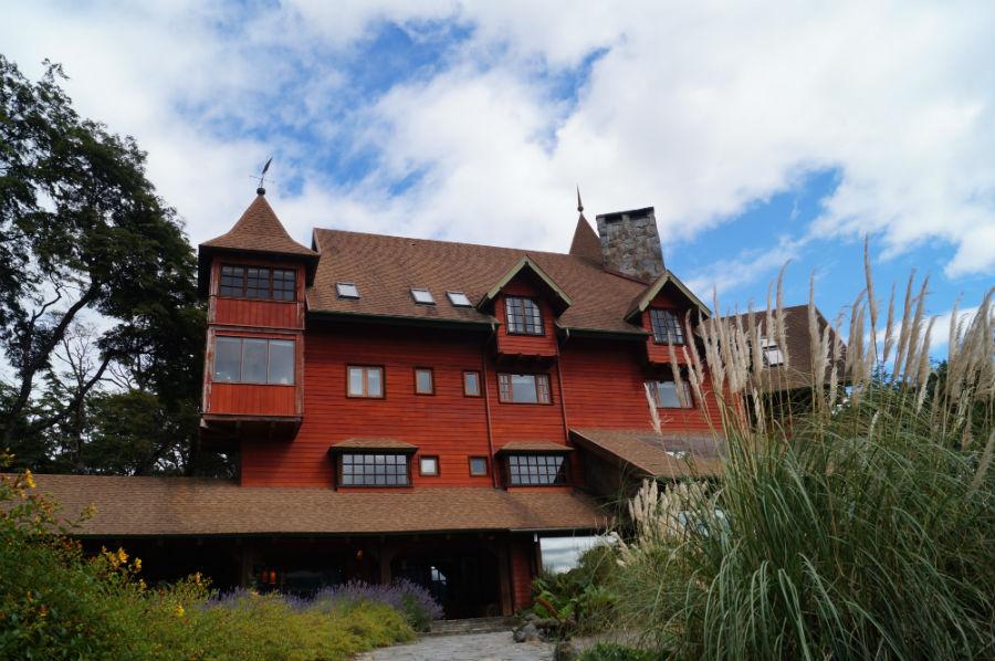 The only hotel at Todos los Santos Lake