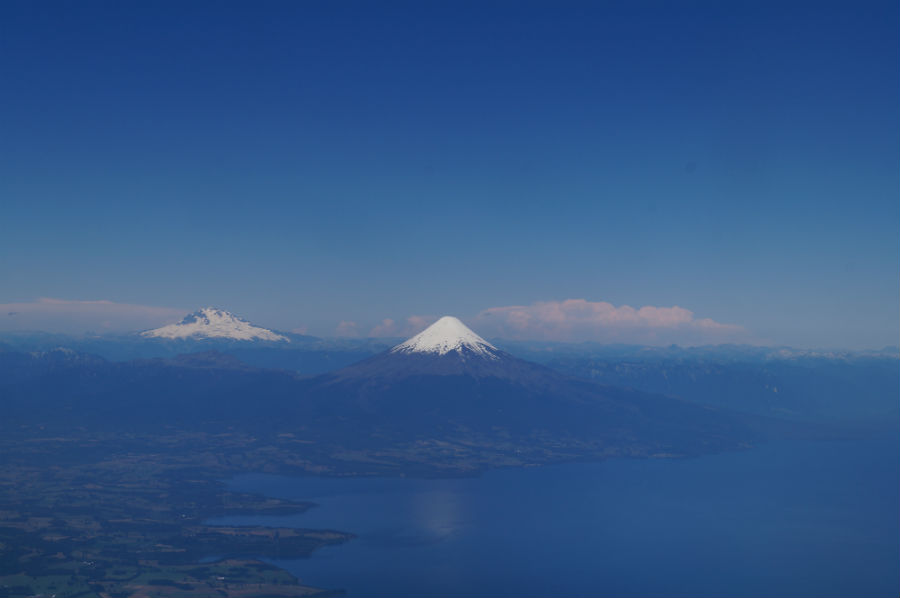 Flying into Puerto Montt over Lake Llanquihue