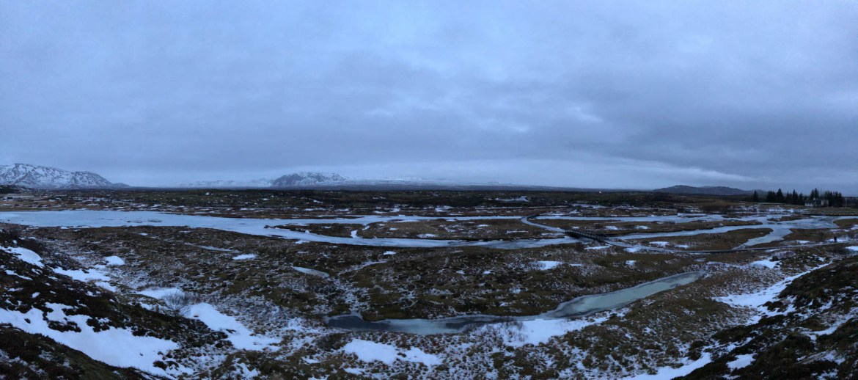 Panoramic view of Thingvellir