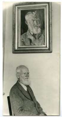 """Portrait of GBS by Augustus John with the aged original"""
