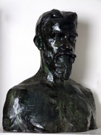 Bronze bust of Shaw by Auguste Rodin