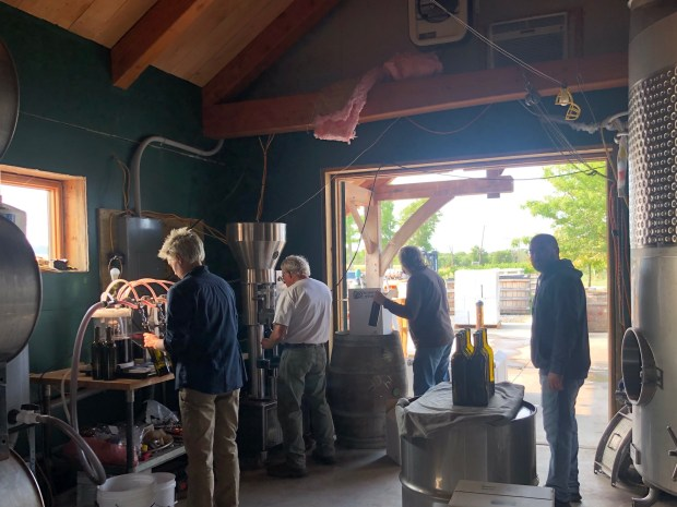 Bottling Cab Sauv at Shaw Vineyard