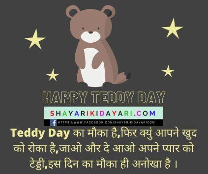 Teddy day shayari in hindi for boyfriend
