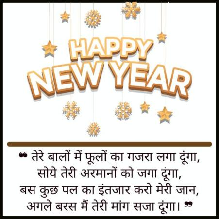 Happy New Year Msg for Wife in Hindi