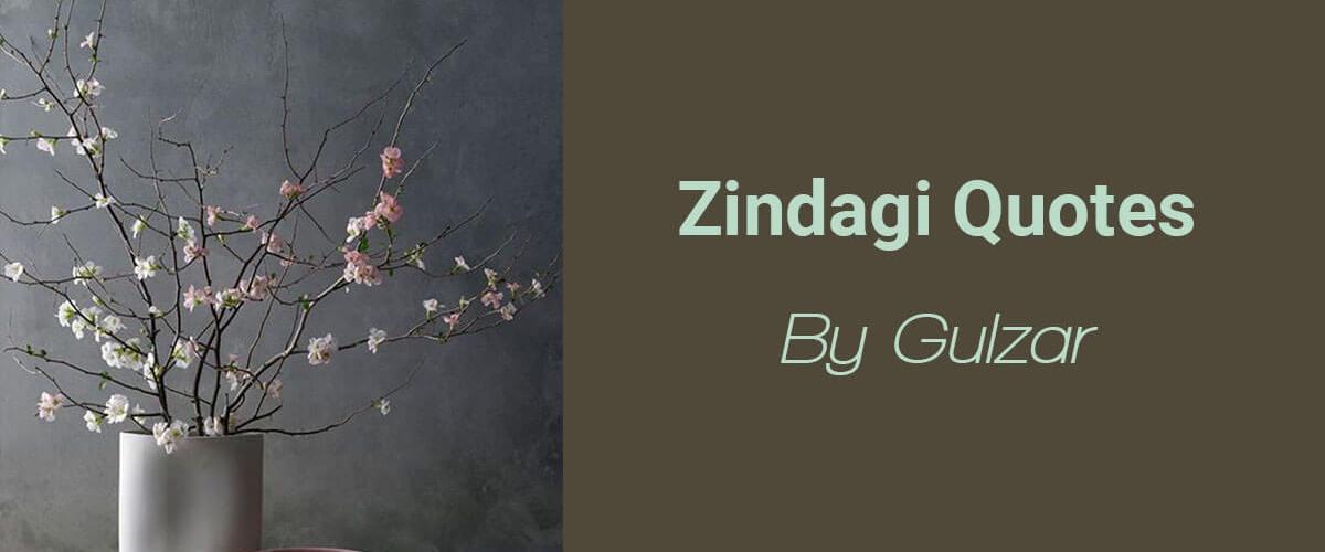 Gulzar Quotes on Zindagi   Shayar Ki Kalam Se