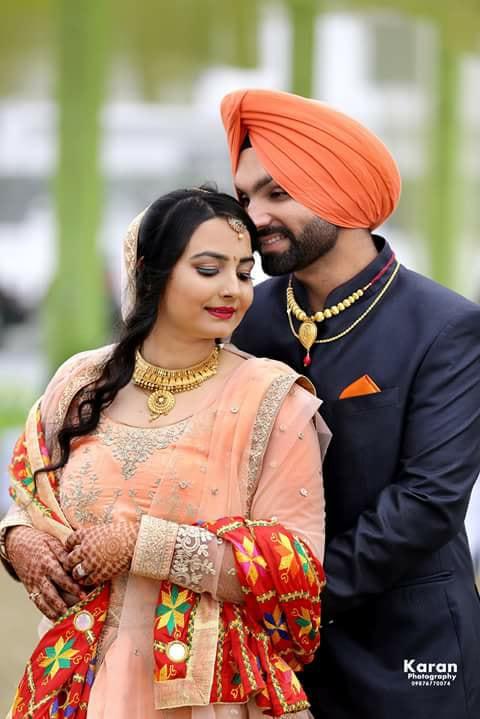 romantic married punjabi couple