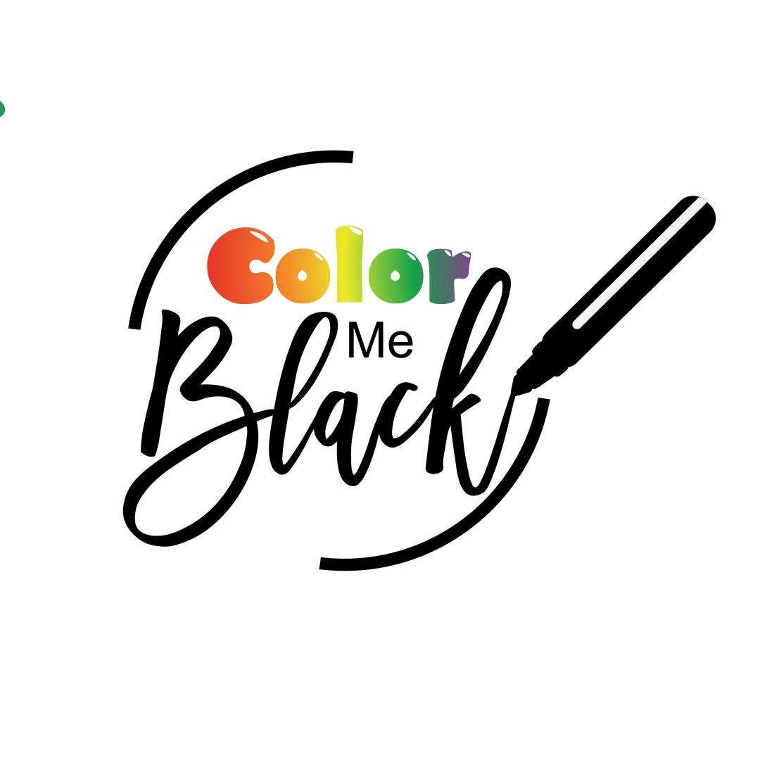 Color Me Black Coloring Book Logo
