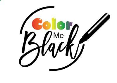 Color Me Black Coloring Book Logo