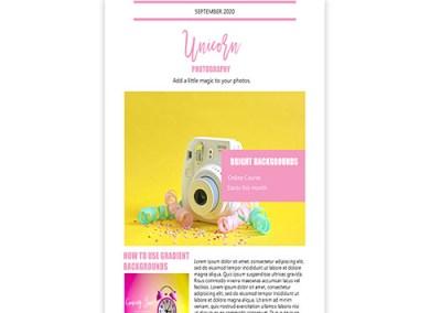 Unicorn Photography Promotion Template