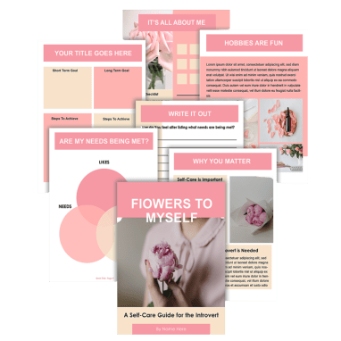 Flowers To Myself Ebook Template