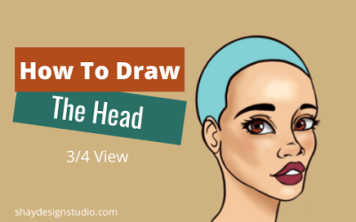 How To Draw A Head in 3/4 View