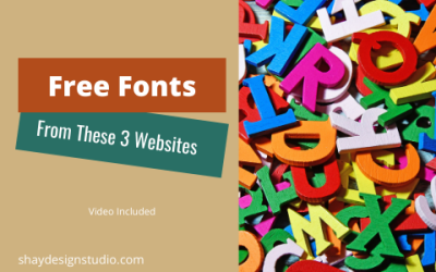 Free Fonts From These 3 Websites.
