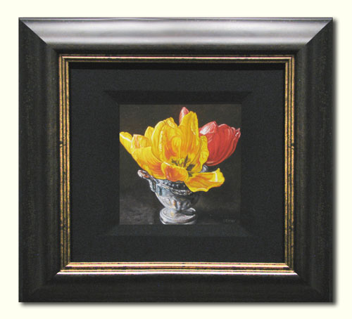 Tulips in Silver Cup