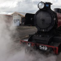 Photoshop tutorial using Maldon steam train