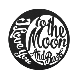 I Love You to the Moon And Back – Black / 10