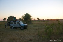 Camped with buffaloes and hippos