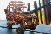 Land Rover from Copper wire