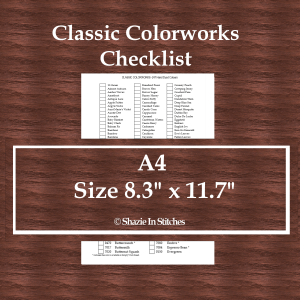 A4 Size – Classic Colorworks Checklist