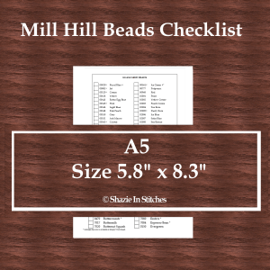 A5 Size – Mill Hill Beads Checklist
