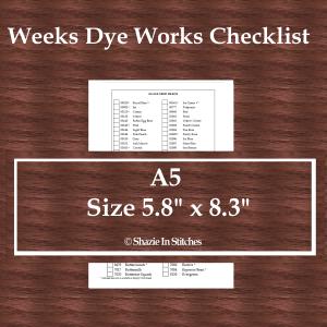 A5 Size – Weeks Dye Works Checklist