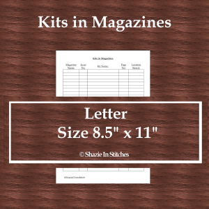 Letter Size – Kits in Magazines