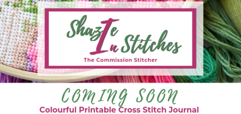 New Colour Printable Cross Stitch Journal – Coming Soon