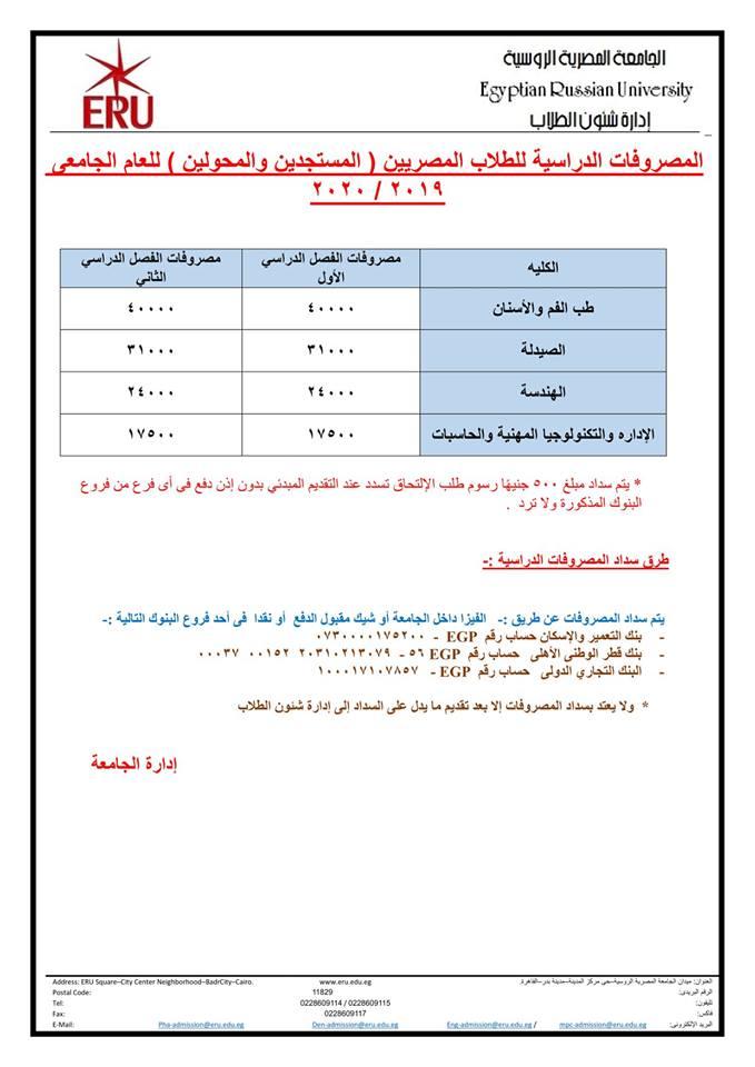 أسعار ومصروفات أرخص جامعة خاصة في مصر شبابيك