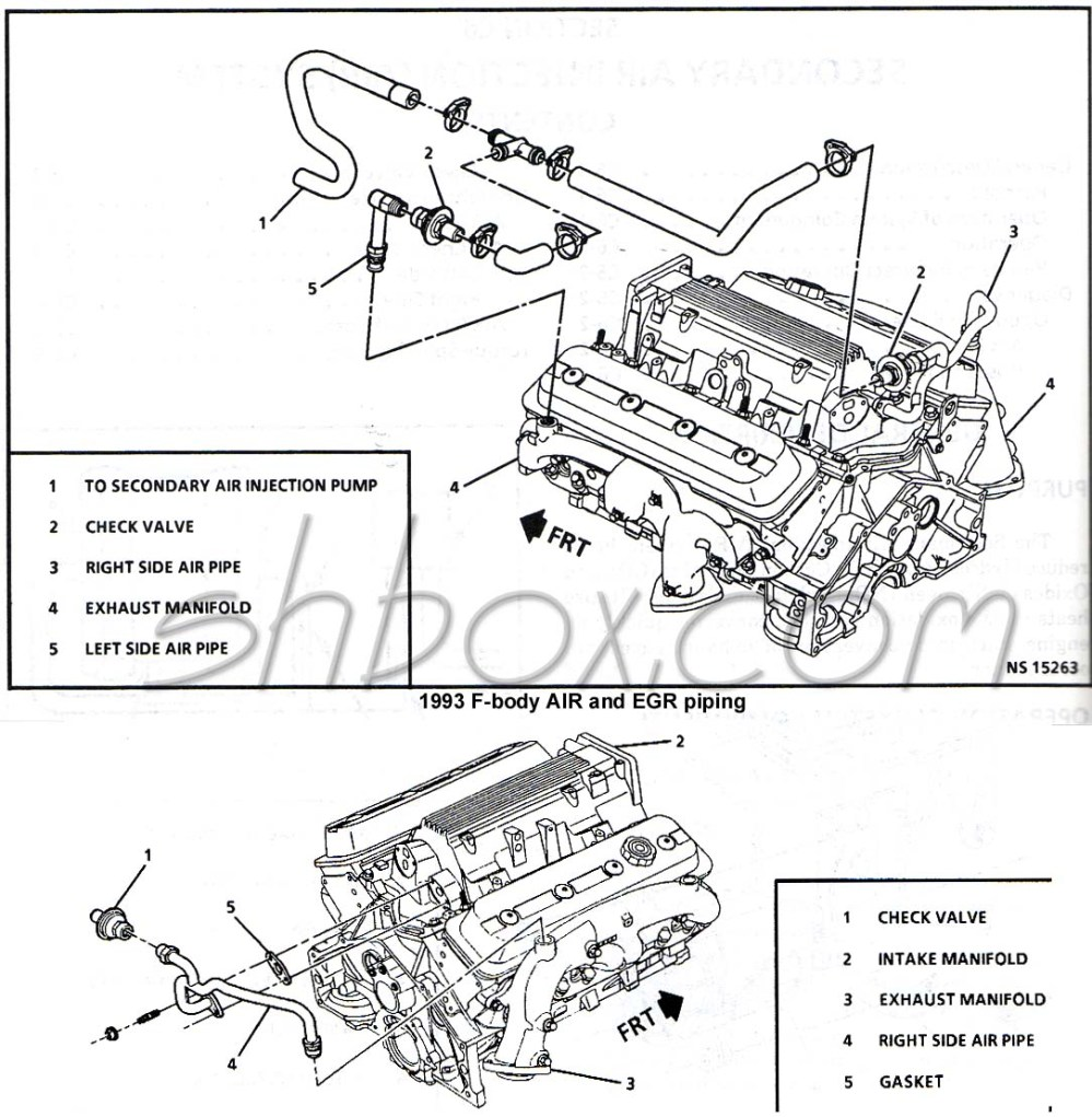 medium resolution of 4th gen lt1 f body tech aids drawings exploded views 1996 camaro engine diagram